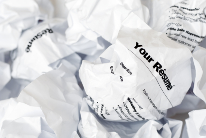 Your Résumé Thrown Away in the Garbage